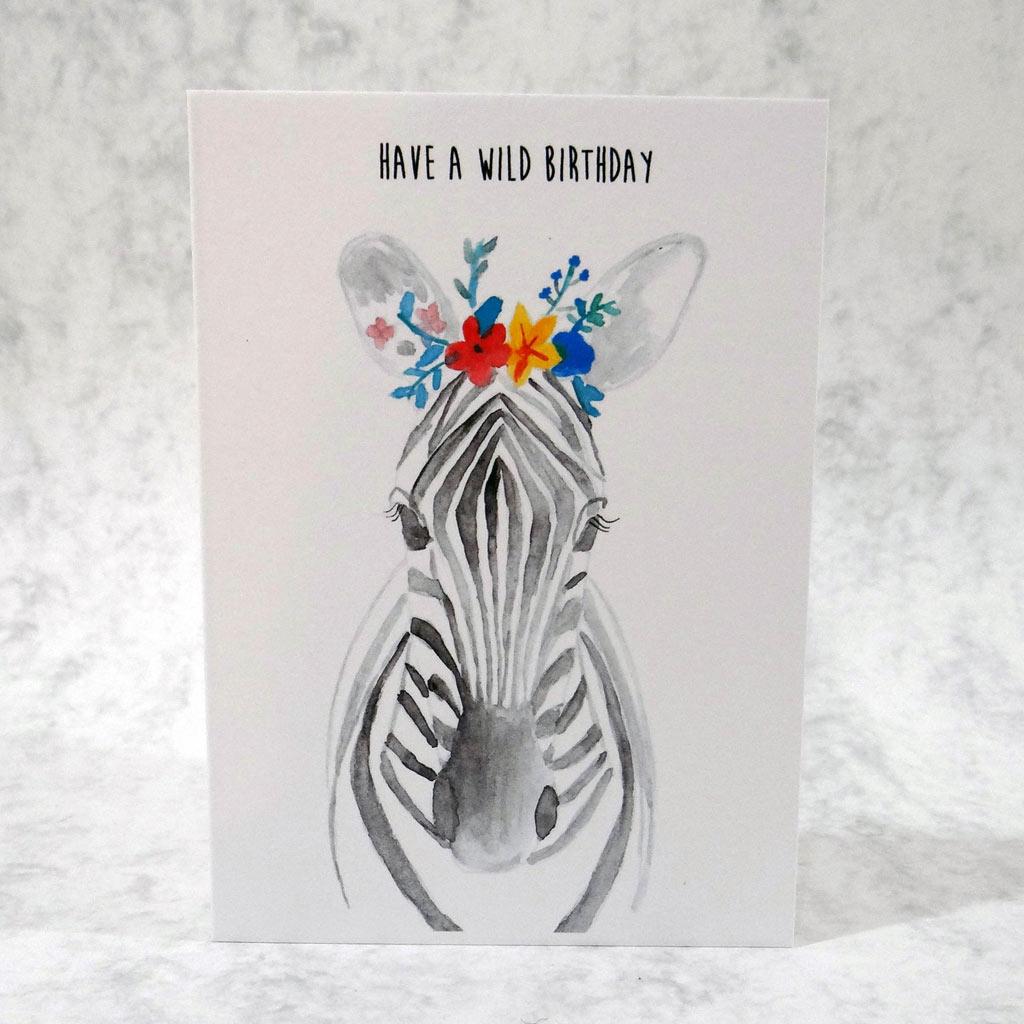 zebra birthday card  pippa  paper